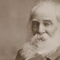 Photo of poet Walt Whitman in older age