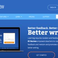 Displays home screen of the EliReview.com website.